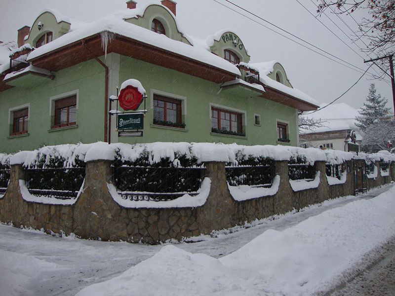 Hunting Horn guesthouse in winter